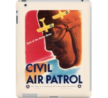 Civil Air Patrol ~ Vintage World War 2 WWII Poster ~ Air Force Pilot ~ 0536 iPad Case/Skin