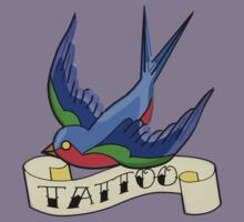 Old Style Swallow Tattoo by RubyFox