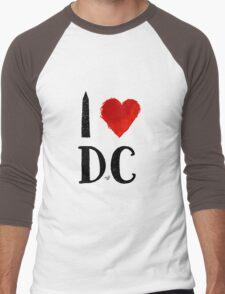I Heart DC (remix) by Tai's Tees Men's Baseball ¾ T-Shirt