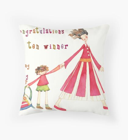 The Sharing & Caring Group Throw Pillow
