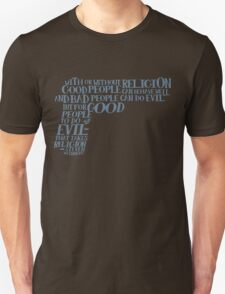 STEVEN WEINBERG quote-cloud by Tai's Tees T-Shirt