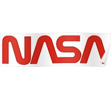 NASA Red Worm Logo Poster