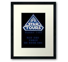 Star Tours 1401- BLUE Framed Print