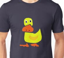 Funky Yellow Duck Primitive Style Art Unisex T-Shirt