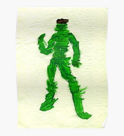 The Green Superhero Poster