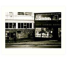 san francisco streetview Art Print