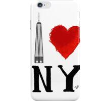 I Love NY Freedom by Tai's Tees iPhone Case/Skin
