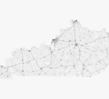 Roads of Kentucky. (Black on white) by Graphical-Maps