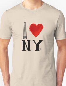 I Love NY Freedom by Tai's Tees T-Shirt