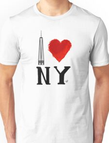 I Love NY Freedom by Tai's Tees Unisex T-Shirt