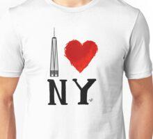 I Love NY Freedom by Tai's Tees Unisex T-Shirt