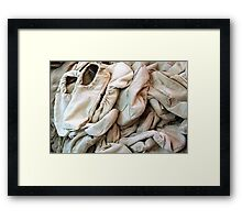 A Canvas of Canvas Shoes Framed Print