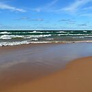 September Beach in Michigan by Debbie  Maglothin