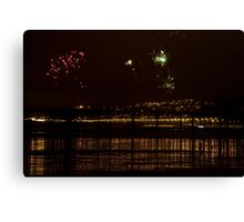 Fireworks in the sky Canvas Print