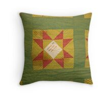 Signed quilt Throw Pillow
