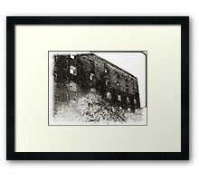 Collapsed Building III Framed Print