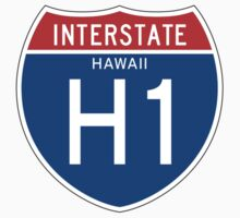 Interstate H1 Sign, Hawaii One Piece - Long Sleeve