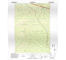 USGS Topo Map Oregon Beaver Butte 278970 1996 24000 Poster