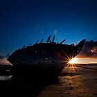 Shipwreck Sunset by Stephen Lawlor