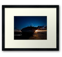 Shipwreck Sunset Framed Print