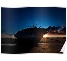 Shipwreck Sunset Poster