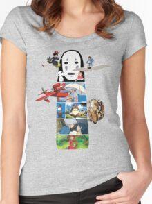 No Face-Hayao Miyazaki Films Women's Fitted Scoop T-Shirt