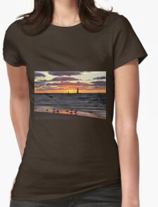 Sunset Manistee Michigan Style Womens Fitted T-Shirt
