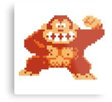 Donkey Kong 8 Bit Metal Print