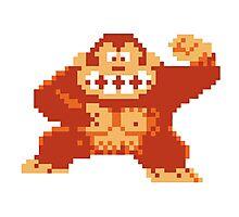 Donkey Kong 8 Bit Photographic Print