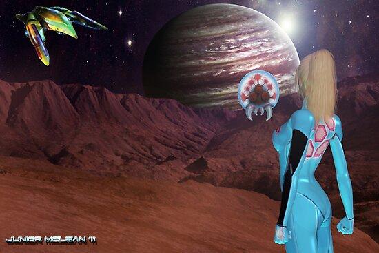 Zero Suit Samus Aran's  Next Destination  by Junior Mclean
