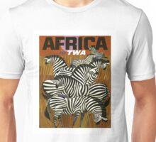 Africa Fly TWA Travel Poster ~ Vintage Airline Zeebras ~ 0560 Unisex T-Shirt