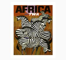 Africa Fly TWA Travel Poster ~ Vintage Airline Zeebras ~ 0560 Unisex T-Shirt