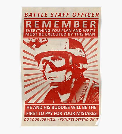 Battle Staff Officer Poster