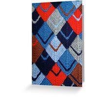 Modular knit Greeting Card
