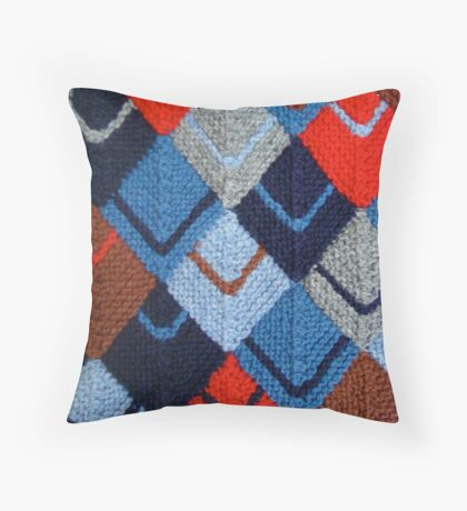 Modular knit Throw Pillow