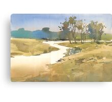Silhouette in my river Canvas Print