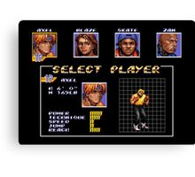 Streets of Rage 3 – Select Axel Canvas Print
