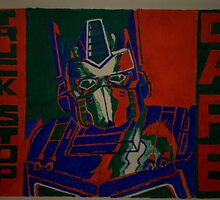 Optimus Prime Cafe Sign Canvas by chrisjh2210