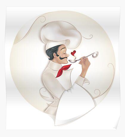Chef illustration Poster