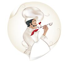 Chef illustration Photographic Print