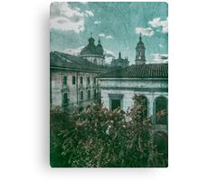 Colonial Architecture at Historic Center of Bogota Colombia Canvas Print
