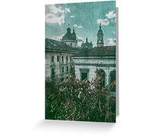 Colonial Architecture at Historic Center of Bogota Colombia Greeting Card