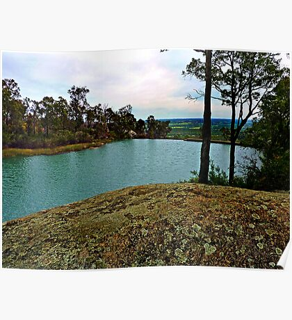 Oakley Dam and Falls  Dwellingup, Western Australia. Darling Ranges. Poster