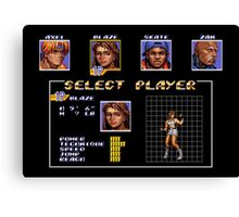 Streets of Rage 3 – Select Blaze Canvas Print