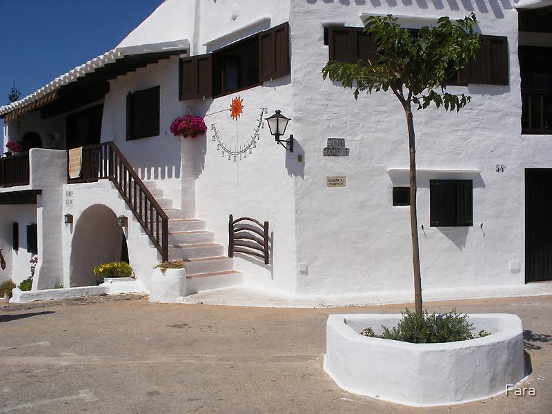 A white village in Menorca. by Fara