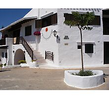 A white village in Menorca. Photographic Print