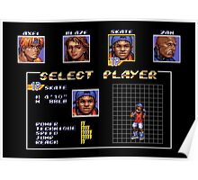 Streets of Rage 3 – Select Skate Poster