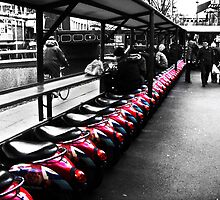 Row of bikes by Barry James Roberts