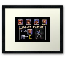 Streets of Rage 3 – Select Zan Framed Print