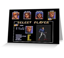 Streets of Rage 3 – Select Zan Greeting Card